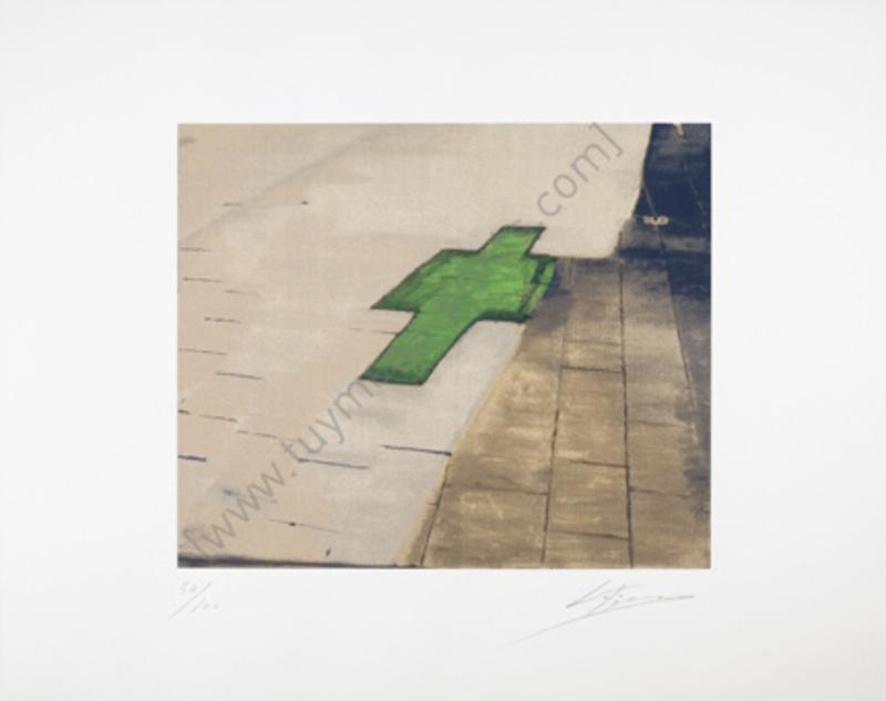 吕克•图伊曼斯 - 版画 - Untitled (Hommage aan Jan Hoet)