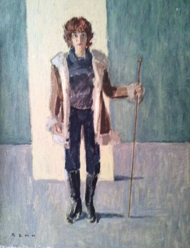 BENN - Peinture - Young Man with a Cane