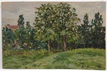 """Laurent ZHEI-ZHARENKO - Pintura - Lavrenti Zhei-Zharenko (1899-1977) """"Landscape"""" oil painting"""