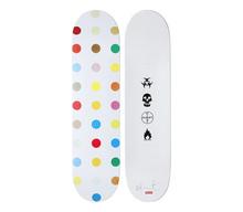 达米恩•赫斯特 - 雕塑 - Spots wood Skate Deck # 4
