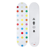 Damien HIRST - Sculpture-Volume - Spots wood Skate Deck # 4