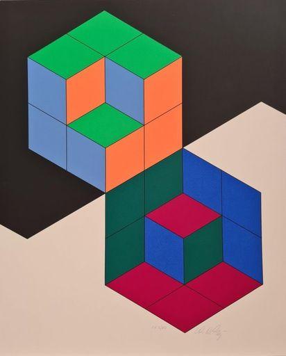 Victor VASARELY - Estampe-Multiple - Bi-Hexa