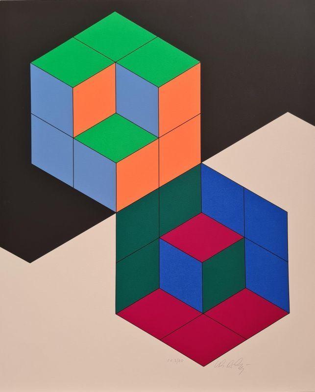 Victor VASARELY - Print-Multiple - Bi-Hexa
