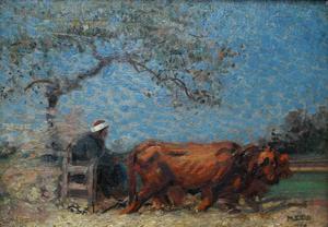 Mahmoud SAID - Painting - El Norag (The Plow)