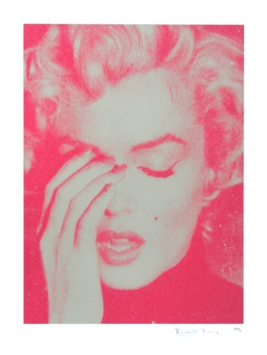 Russell YOUNG - Stampa-Multiplo - Marilyn Crying (Cream and Suicide Pink)