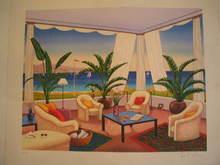 François LEDAN - Grabado - Interieur sur la Cote d'Azur,1986.