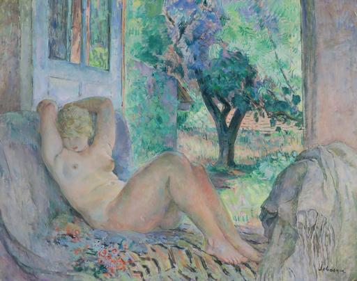 Henri Baptiste LEBASQUE - Gemälde - Grand Nu (Marinette), Le Cannet