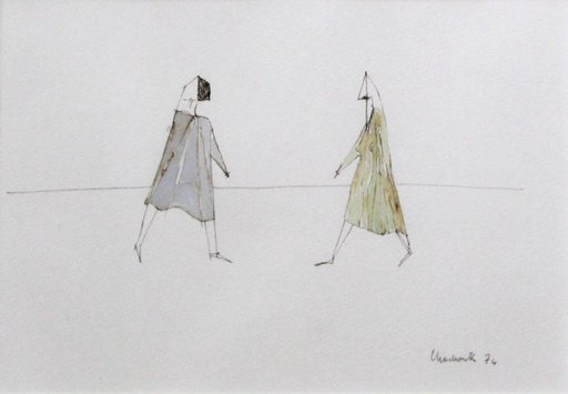 Lynn Russell CHADWICK - Dessin-Aquarelle - Two Figures