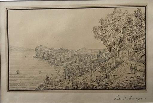 Antonio SENAPE - Dibujo Acuarela - Porta di Anacapri