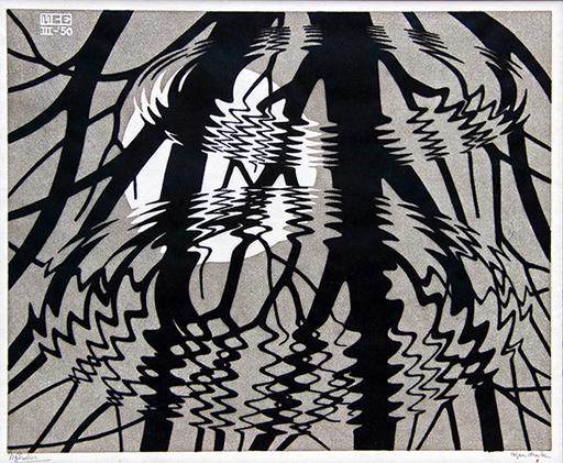 Maurits Cornelis ESCHER - Estampe-Multiple - Rippled Surface