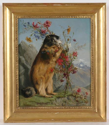 "Ferdinand KÜSS - Painting - ""The Lady Didn't Appear"", 1863, Oil on Canvas"