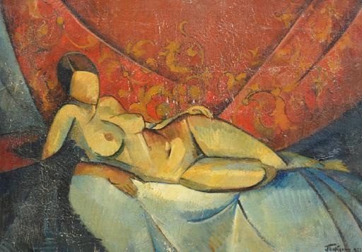 Wladimir TATLIN - Painting - Nude