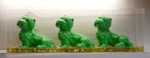 William SWEETLOVE - Print-Multiple - Cloned green dogs, +