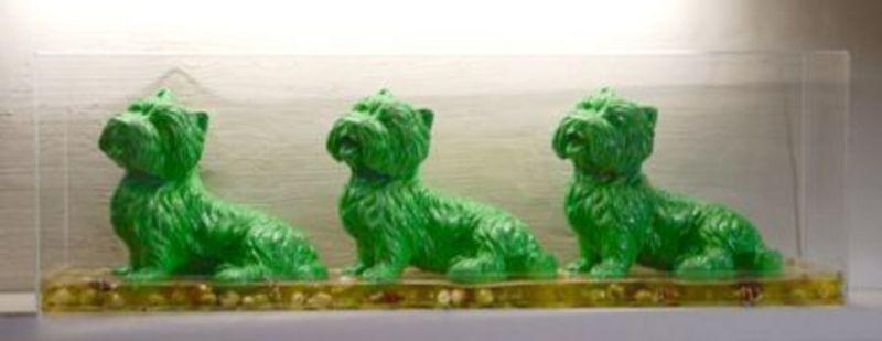 William SWEETLOVE - Estampe-Multiple - Cloned green dogs, +