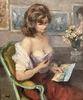Marcel DYF - Painting - Model in the artist's studio