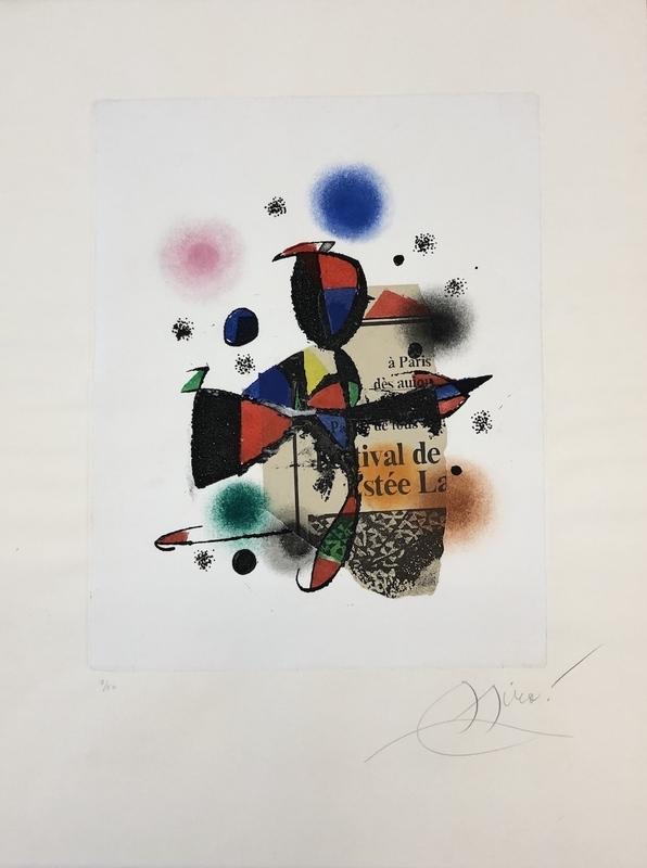Joan MIRO - Grabado - Gaudi XV