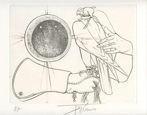 Pierre-Yves TRÉMOIS - Print-Multiple - GRAVURE SIGNÉE CRAYON EA HANDSIGNED EA ETCHING FAUCONNERIE