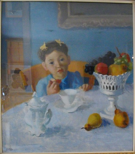 Léon DEVOS - Peinture - Le petit déjeuner