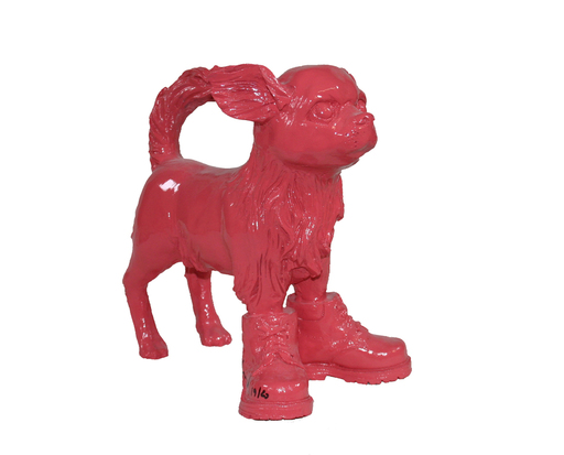William SWEETLOVE - Sculpture-Volume - small cloned pink Chihuahua