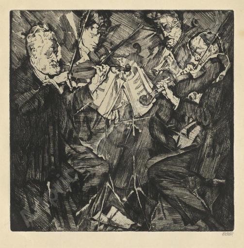 Max OPPENHEIMER - Grabado - Rosé-Quartett