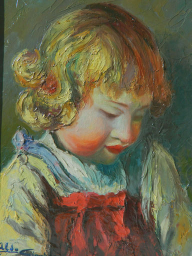 Aldo GIORDANI - Painting - PORTRAIT - ENFANT - RITRATTO