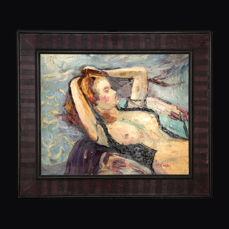 Pierre CORNU - Gemälde - Nue
