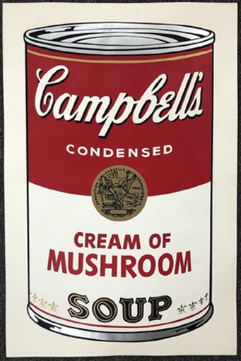 Andy WARHOL - Stampa Multiplo - Campbell's soup I: Cream of Mushroom