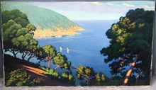 Erwin HUBERT - Painting - Mallorca – Vista costera