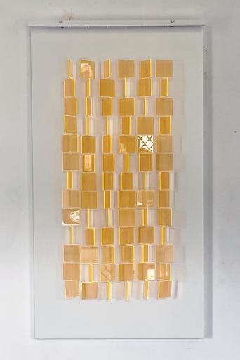 Julio LE PARC - Sculpture-Volume - Mobile translucide orange