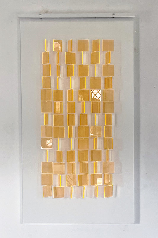 Julio LE PARC - Scultura Volume - Mobile translucide orange