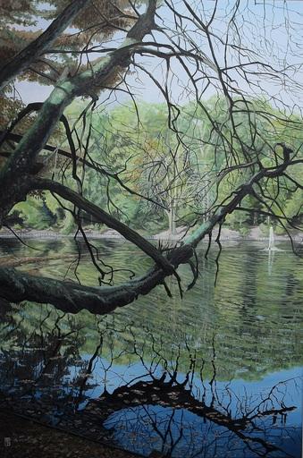 Michael GREGOR - Pittura - Kleiner See im Stadtwald