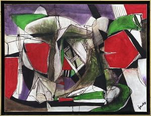 Pierre JEUDY - 绘画 - Composition