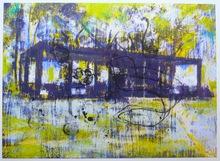 Enoc PEREZ - Grabado - Glass House yellow