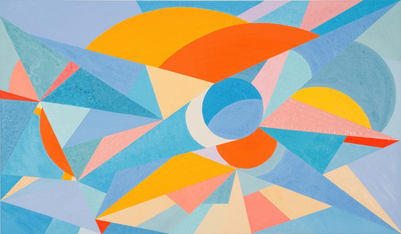 Lorena ULPIANI - Painting - Mondi sospesi - abstract oil materic geometric