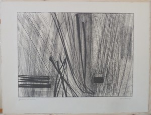 Hans HARTUNG - Estampe-Multiple - Sans titre