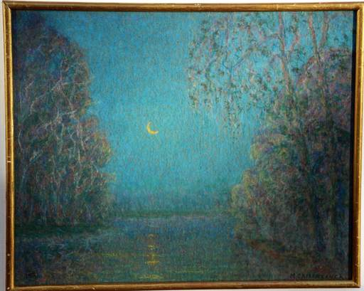 Louis CAMERLYNCKX - Dessin-Aquarelle - maanzicht