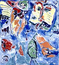 """Carl-Henning PEDERSEN - Painting - """"Den eftertænksomme"""""""