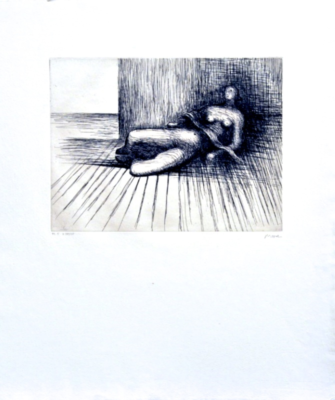 Henry MOORE - Druckgrafik-Multiple - Reclining Figure