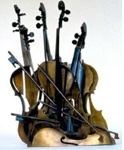 Fernandez ARMAN - Sculpture-Volume - Peacock's Tail