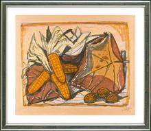 奥托·迪克斯 - 版画 - Stilleben mit Mais