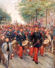 Alphonse LALAUZE (1872-1936) - LE DEFILE
