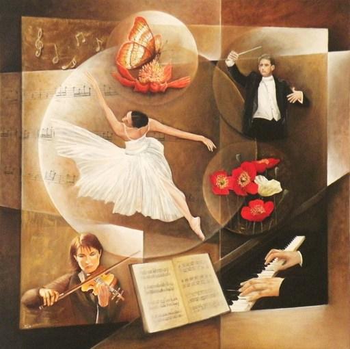 Frank GODILLE - Peinture - Symphonie du Printemps