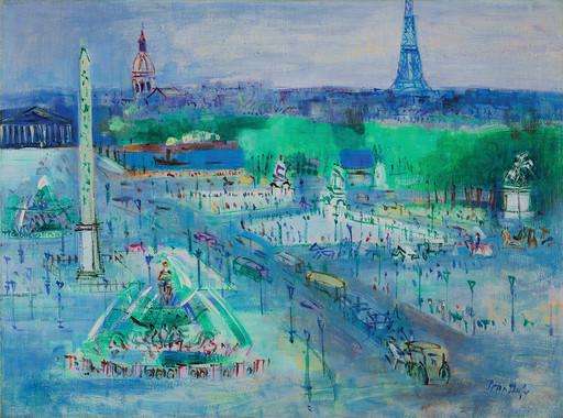 Jean DUFY - Peinture - Place de la Concorde