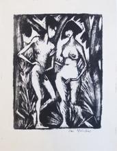 奥托·穆勒 - 版画 - Adam und Eva