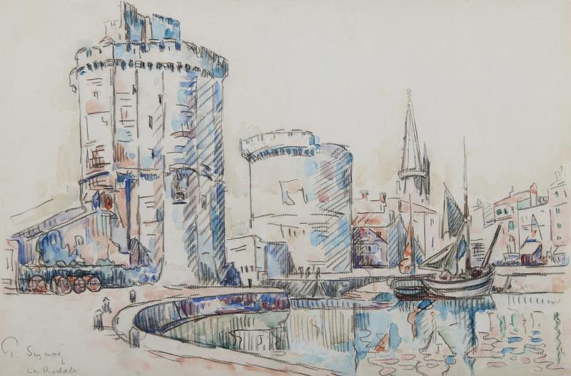 Paul SIGNAC - Dessin-Aquarelle - La Rochelle