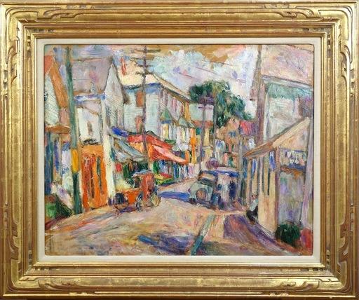 Abraham MANIEVICH - Painting - Peekskill Street Scene
