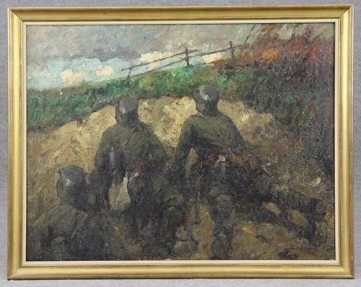 Leonhard SANDROCK - Gemälde - Patrouille
