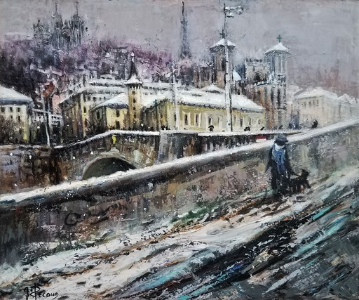 Gilbert PECOUD - Pintura - La promenade