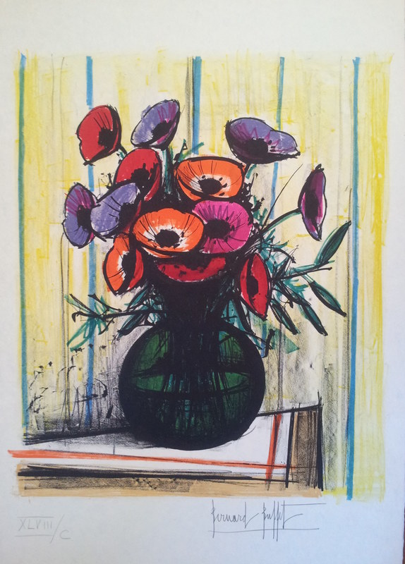 Super Les Anemomes 1972 By Bernard Buffet Buy Art Online Home Interior And Landscaping Ologienasavecom
