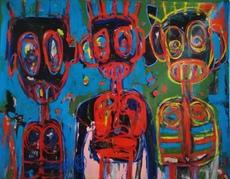 Aboudia Abdoulaye DIARRASSOUBA - Pittura - Untitled